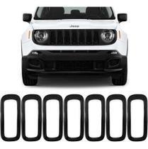 Aplique Preto Grade Jeep Renegade 2019 2020 Acessorios - Prime