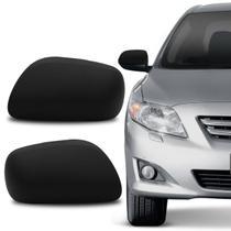 Aplique Preto Retrovisor Corolla 2008 a 2013 Acabamento e Encaixe Perfeitos - Blawer