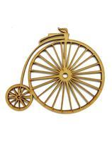 Aplique Recorte Bicicleta Antiga Retrô 15cm Mdf Cru para Artesanato - Poá de luxo
