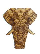 Aplique Recorte Elefante Mdf Cru para Artesanato - Poá De Luxo