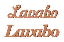 Aplique Recorte Palavra Lavabo Mdf 3mm para Artesanato - Arte Quadro