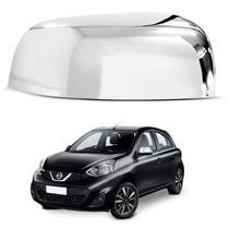 Aplique Retrovisor Nissan March 2011 a 2019 Cromado Lado Esquerdo - Shekparts