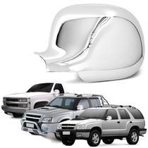 Aplique Retrovisor S10 Blazer Silverado 1995 a 2011 Cromado Lado Esquerdo - Shekparts