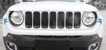 Aplique Tampa Farol Dianteiro Preto Jeep Renegade ate 2018 -