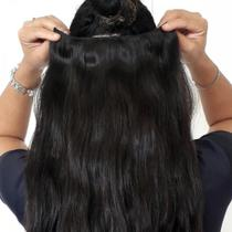 Aplique tela tic tac cabelo humano 60cm 150gr - 2 telas -