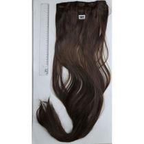 Aplique tic tac cabelo liso castanho acobreado 60 cm MKll522 - Marikota