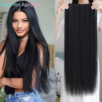 Aplique tictac preto liso/ idêntico o cabelo humano - Imp