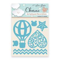 Apliques Decorativos Charme Antonio Barbosa Palavras Baby Azul 7 unidades - 200543 -