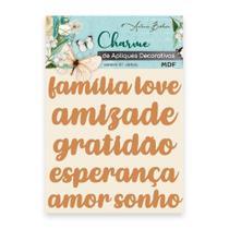 Apliques Decorativos Em MDF Charme Antonio Barbosa Palavras II - 7 unidades  200546 -