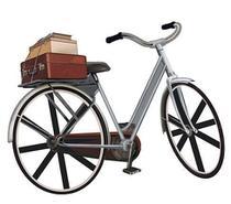 APM8-542 - Aplique Litoarte Em Papel E MDF - Bicicleta Malas -