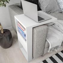Apoio de sofá para notebook com revisteiro para decoração com kit de instalação fred planejados -