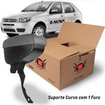 Apoio Encosto De Braco Descanso Cinza Suporte Curvo Nat Palio 2006 A 2012 Kit1641 -