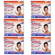Apolo Algodão Bolinha 50g (Kit C/06) -