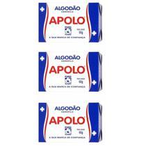 Apolo Algodão Caixinha 50g (Kit C/03) -