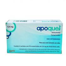 Apoquel  5,4mg Caixa 20 Comprimidos Anti Alergia Zoetis -