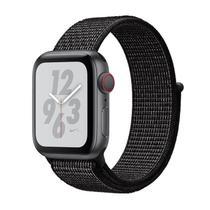 Apple Watch Nike+ Series 4 (GPS + Cellular) - 40mm - Caixa cinza-espacial de alumínio com pulseira esportiva Loop Nike Preta -