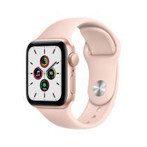Apple Watch SE (GPS) 44mm caixa dourada alumínio pulseira esportiva areia-rosa -