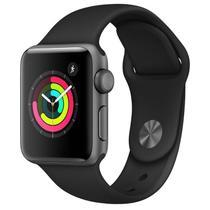 Apple Watch Series 3, 38 mm, Alumínio Cinza Espacial, Pulseira Esportiva Preto e Fecho Clássico - MTF02BZ/A -