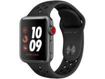 Apple Watch Series 3 38mm Caixa Cinza-espacial - Alumínio GPS + Cellular Pulseira Esportiva Nike