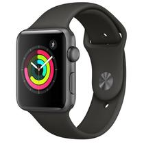 Apple Watch Series 3, 42 mm, Alumínio Cinza Espacial, Pulseira Esportiva Cinza e Fecho Clássico - MTF32BZ/A -