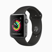 Apple Watch Series 3 (GPS) - 42mm - Caixa cinza-espacial de alumínio com pulseira esportiva preta -