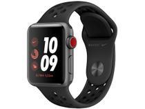 Apple Watch Series 3 (GPS + Cellular) 38mm Caixa - Cinza-Espacial Alumínio Pulseira Esportiva Nike