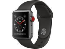 Apple Watch Series 3 (GPS + Cellular) 38mm Caixa - Cinza-Espacial Alumínio Pulseira Esportiva Preta