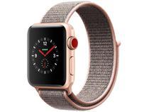 Apple Watch Series 3 GPS + Cellular 38mm Pulseira  - Esportiva Bluetooth 16GB Resistente a Água