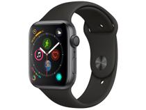 Apple Watch Series 4 44mm GPS Integrado Wi-Fi - Bluetooth Pulseira Esportiva 16GB Caixa Alumínio