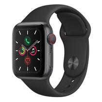 Apple Watch Series 5 CellulGPS, 40 mm, Alumín Cinza Espac, Puls Esportiva Preto Fecho Clás MWX32BZ/A