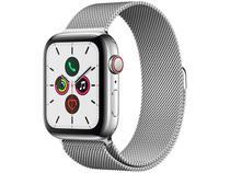 Apple Watch Series 5 (GPS + Cellular) 44mm - Caixa Aço Inoxidável Pulseira Estilo Milanês