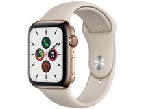 Apple Watch Series 5 (GPS + Cellular) 44mm Caixa - Dourada Aço Inoxidável Pulseira Esportiva Cinza