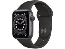 Apple Watch  Series 6 40mm Cinza-espacial GPS - Pulseira Esportiva Preta