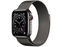 Apple Watch Series 6 40mm Grafite GPS + Cellular - Pulseira Estilo Milanês Grafite