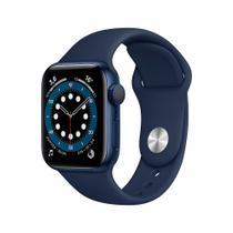 Apple Watch Series 6 (GPS) 40mm caixa azul alumínio pulseira esportiva marinho-escuro -