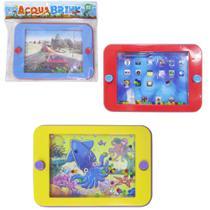 Aquaplay / jogo de basquete horizontal acqua brink colors 15x10cm - Ark Toys
