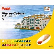 Aquarela arts a base de agua 24 cores  htp-24 - Pentel