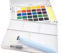 Aquarela em Pastilha Koi Pocket Field Sketch Box Estojo com 30 Cores Ref.XNCW-30H Sakura -