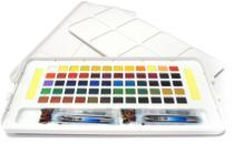 Aquarela em Pastilha Koi Pocket Field Sketch Box Estojo com 60 Cores Especiais Ref.XNCW-60N Sakura -