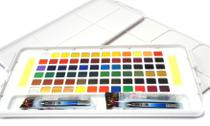 Aquarela em Pastilha Koi Pocket Field Sketch Box Estojo com 72 Cores Especiais Ref.XNCW-72N Sakura -