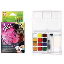 Aquarela em Pastilha Koi Sakura 12 Cores Creative Art Colors -