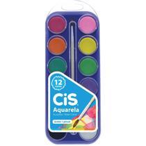 Aquarela Escolar CIS Estojo 12 Cores - Sertic