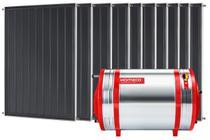 Aquecedor Solar 1000 L Inox 304 baixa pressão desnível + 10 Coletores de 1m² AB Komeco -