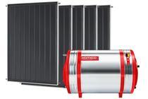 Aquecedor Solar 1000 L Inox 304 baixa pressão desnível + 5 Coletores de 2m² MX Komeco -