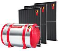 Aquecedor Solar 500 L Inox 304 baixa pressão desnível + 3 Coletores de 1,5m² AB Komeco -