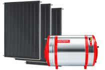 Aquecedor Solar 500 L Inox 316 alta pressão desnível + 3 Coletores de 1,5m² MX Komeco -