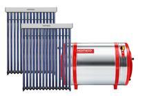 Aquecedor Solar 500 L Inox 316 baixa pressão desnível c/ anôdo + 2 Coletor a vácuo de 15 tubos Komeco -