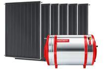 Aquecedor Solar 600 L Inox 304 alta pressão nível + 6 Coletores de 1m² MX Komeco -