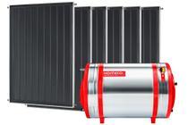Aquecedor Solar 600 L Inox 316 alta pressão nível + 6 Coletores de 1m² MX Komeco -