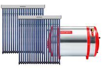 Aquecedor Solar 600 L Inox 316 baixa pressão desnível + 2 Coletor a vácuo 20 tubos Komeco -